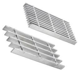 Escalera de acero galvanizado en caliente peldaños para escaleras de paso de la pasivación con acabado y el certificado CE