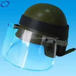 防弾合成の薄板にされたガラスの防弾ヘルメットマスク