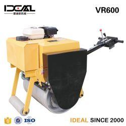 Mini Compactador de Direção Hidráulica de tambor único rolo de estrada de vibração