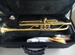 Hoogwaardige trompet, professioneel messing instrument gemaakt in China, Groothandel muziekinstrument