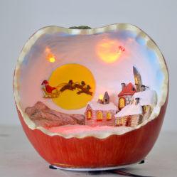 Пластмассовый яблоки Multi-Color привели к Рождеству магниевым корпусом настольное украшение