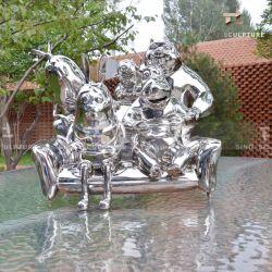 ホームに磨かれる鋳造物のステンレス鋼の彫刻の表面ミラー装飾として