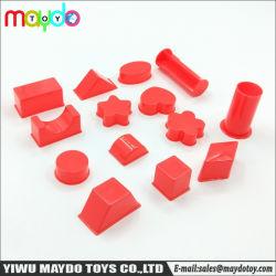 14PCS sortierte Sand-Lehm-formenspielzeug-Plastikgeometrie-Form-Modelle