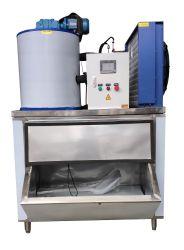 Tief abkühlende automatische Flocken-Eis-Maschine 1000kg/24h für Supermarkt-Gaststätte