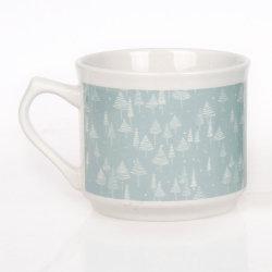 Tazza di caffè stampata acqua bianca su ordinazione all'ingrosso del tè di ceramica