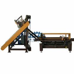 Semi-automático palete de madeira Cravando Linha com Automatical Máquina de empilhamento