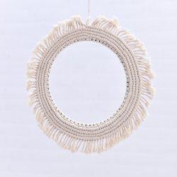 Tappezzeria della parete della corda sisal/del cotone tessuta Macrame della Boemia che appende per lo specchio della decorazione (HQWH-8)