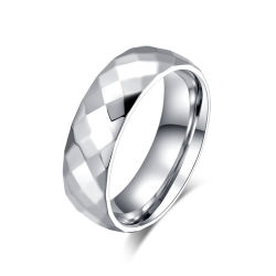 2019 Conjunto de joyas de moda mujer anillo facetas en blanco