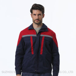 Fr 100% хлопок Саржа ВМС огнестойкие куртка с лентой