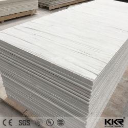 Matériau de construction écologique en marbre blanc de résine artificielle Surface solide de grandes dalles