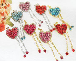 Belas jóias de Flores disco flash USB/Crystal Rose Flower Unidade Flash USB