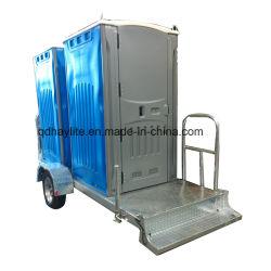 L'acier galvanisé double Camping Public toilettes portables pour la vente de remorque