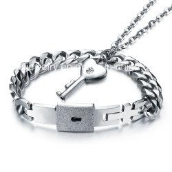 العشاق أزياء المجوهرات قلادة رئيسية قفل Bangle Steel Bracelets
