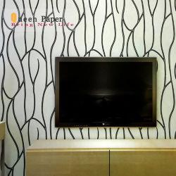 Grossiste motif géométrique 3D de conception moderne de papier peint papier peint en PVC pour la décoration d'accueil