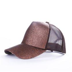 Casquette de baseball Trendy Glitter Queue de Cheval femmes Hip Hop Snapback Caps Snapback paillettes Shine été chapeaux femelle Mesh Outdoor Hat Bone