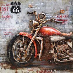 3 d-Metalldekoration-Ölgemälde-Wand-Kunst