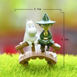Mini-Hipona Ponte Moomin Decoração Figurine Fairy Garden Novo