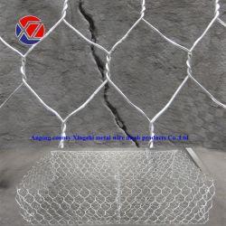 Hexagonal de acero galvanizado de zinc de alta 8*10 Gabion Cesta de la jaula de piedra
