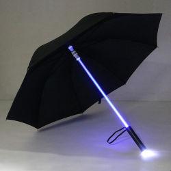 Paraplu's van het Zonnescherm van de grote Multifunctionele Rechte LEIDENE van de Paraplu Gift van de Paraplu de Beste (br-st-606)