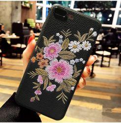حقيبة هاتف من تصميم زهرة الورد المزهرة ونمط فلامينجو