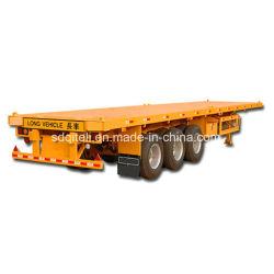 3 ESSIEUX 40FT Conteneur lit plat remorque remorque de camion 20ft 40pied conteneur semi-remorque à plat