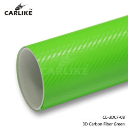 Material PVC vinil de fibra de carbono Verde aluguer de filmes de Cintagem