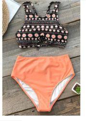 Réservoir de Boho Bikini orange
