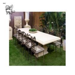 Os preços de fábrica decoração exterior Classic pedra mármore mesas de jardim Banquetas Mbr-21