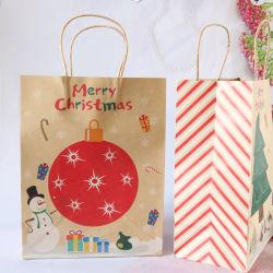 Arbre de Noël de sac de papier Kraft Party de Noël sac de cadeaux pour les clients