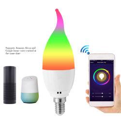 Smart queue WiFi Bougie LED spot ampoule lampe LED RVB de l'ampoule E27 Ampoule de LED Lampes au néon de Lumière & éclairage au néon LED Spot Light ampoules à LED à gradation E27 et LED GU10