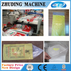 Saco de plástico de tecido PP inserindo a máquina