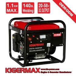 140A 1.1kW ダブル使用ガソリンおよび溶接ジェネレータ