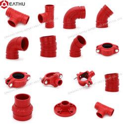 تركيبات حماية من الحريق UL/FM المحززة على الحديد أو مرنة التقارن/المرفق/Cross/ /Reducer/Cap/Reducing Tee/Mechnical Tee