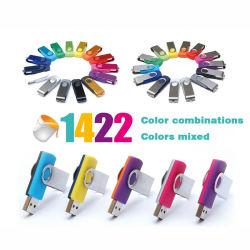 2020 por grosso de alta qualidade o logotipo personalizado USB Giratório 3.0 Cartão de Memória Flash USB