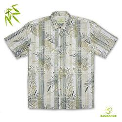 Katoenen van het Bamboe van de mens Hawaiiaans Overhemd in Korte Koker