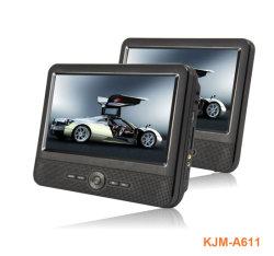 مشغل أقراص DVD للسيارة بشاشة مزدوجة مقاس 10.1 بوصة بتقنية ليثيوم أيون مدمجة قابلة لإعادة الشحن البطارية
