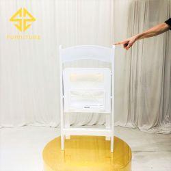 Commerce de gros de la résine blanche chaise pliante de plein air pour le banquet de mariage Salle à manger