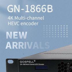 جهاز فك تشفير التلفاز الرقمي HEVC متعدد القنوات بدقة 4K بوضوح عال فائق H. 265 IPTV