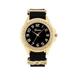 Quartz der Form-Schmucksache-Genf-Dame Armbanduhr Soem-Zoll-Geschenk-Uhren mit Silikon-Band (JY-SI033)