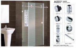China Ducha sin cerco puerta corrediza de vidrio Accesorios de hardware para el cuarto de baño la puerta de cristal