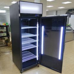 2020 Nouvelle conception bar unique porte en position verticale de la bière noire réfrigérateur