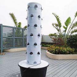 La Hidroponía Vertical Torre creciente de la fresa de jardín de los sistemas Sistema de Siembra de fresas