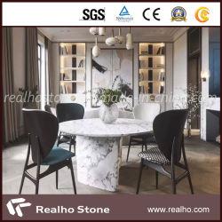 Высшее качество естественный белый/синий/черный/серый/желтый/красный/зеленый/розового мрамора обеденный стол для продажи