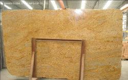 الهند قطع قماش الجرانيت الذهبية المصقولة الطبيعية جيالو مادورا للداخلية سطح طاولة المطبخ مزود بلهو وأرضيات