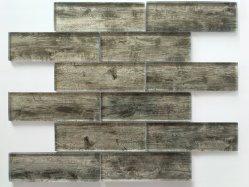 Piastrelle in vetro di legno nero per mosaico 48 * 148 * 8 Per decoratori interni Gys-1050/carta da parati/