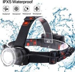 Oplaadbare LED USB-kabel, 4 modi, waterdichte lichtgewicht hoofdlamp Voor het jagen van het hoofd zaklamp licht