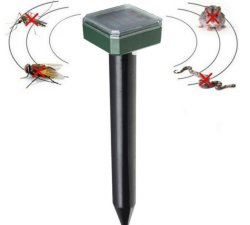 잔디 가든용 솔라 알람 2팩 몰레 레이더 야드당 야외 Pest Control