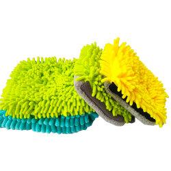 Doppelt-Seite Chenille-Auto-Wäsche-Handschuhe, Auto-Reinigungs-Handschuh