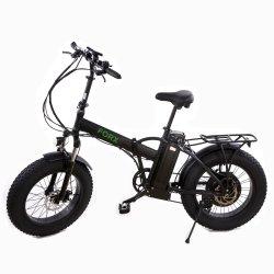 Pneus 20inch Fat Ebike deux roues 500W du moteur de moyeu arrière électrique vélos de pliage de la plage avec fourche à suspension avant
