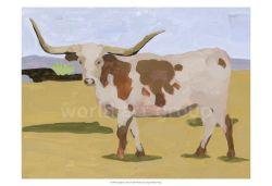 Hechos a mano modernos Animales Arte abstracto de la pared de lona vaca óleo para la venta